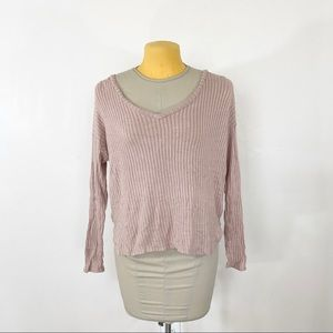 American Eagle Soft & Sexy Ribbed Long Sleeve Top